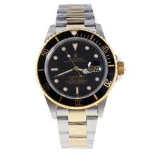 Rolex Submariner Swiss Cal 3135 Movement Two Tone with Black Dial