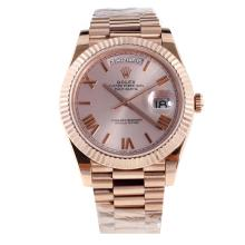 Rolex Day-Date II Swiss ETA 2836 18K Plated Gold Movement Full Rose Gold with Champagne Dial-1