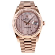 Rolex Day-Date II Swiss ETA 2836 18K Plated Gold Movement Full Rose Gold with Champagne Dial