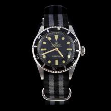 Rolex Submariner Swiss ETA 2836 Movement Black Dial with Nylon Strap-Vintage Edition-3