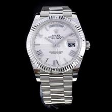 Rolex Day-Date II Swiss ETA 3255 Movement with White Dial S/S