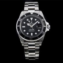 Rolex Submariner Automatic with Black Bezel and Dial S/S