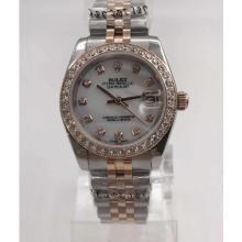 Rolex Datejust Automatic Diamond Bezel and Markers with White Dial S/S-Sapphire Glass-1