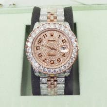 Rolex Datejust II Automatic Two Tone with Diamond dial and Diamond strap