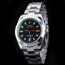 Rolex Milgauss Automatic with Tinted Green Sapphire Same Structure As ETA Version