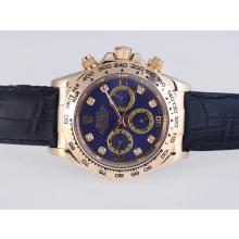 Rolex Daytona Automatic Gold Case with Blue Dail-Diamond Marking