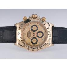 Rolex Daytona Automatic Gold Case with Golden Dail-Diamond Marking-1