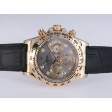 Rolex Daytona Automatic Gold Case with Gray Dail-Diamond Marking