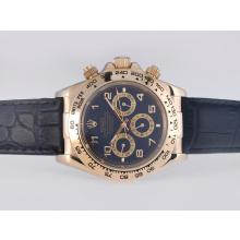 Rolex Daytona Automatic Gold Case with Blue Dail-Number Marking