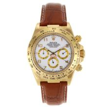 Rolex Daytona Automatic Gold Case with White Dail-Number Marking