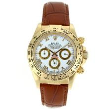 Rolex Daytona Automatic Gold Case with White Dail-Roman Marking