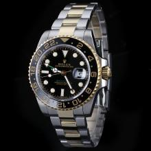 Rolex GMT-Master II Automatic Two Tone with Black Dial Ceramic Bezel