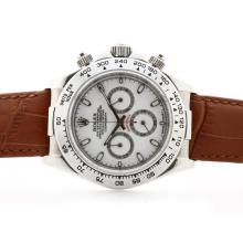 Rolex Daytona Cosmograph Working Chronograph White Dial with Stick Marking