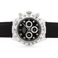 Rolex Daytona Cosmograph Working Chronograph Black Dial with Diamond Marking