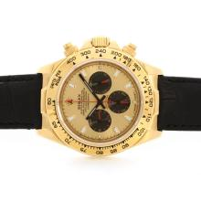 Rolex Daytona Working Chronograph18K Yellow Gold Case Golden Dial
