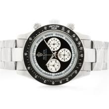 Rolex Daytona Cosmograph Working Chronograph with Black Dial S/S-Vintage Edition-5