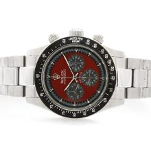 Rolex Daytona Cosmograph Working Chronograph with Red Dial S/S-Vintage Edition-1