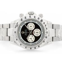 Rolex Daytona Cosmograph Working Chronograph with Black Dial S/S-Vintage Edition-3