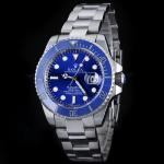 Rolex Submariner Automatic with Blue Dial S/S-Blue Ceramic Bezel