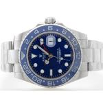 Rolex GMT Master Automatic with Blue Dial S/S-Blue Ceramic Bezel