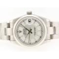 Rolex Datejust Swiss ETA 2836 Movement with White Dial Stick Marking