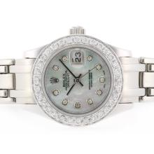 Rolex Masterpiece Swiss ETA 2836 Movement Diamond Bezel and Marking with MOP Dial 2