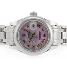 Rolex Masterpiece Swiss ETA 2836 Movement Roman Marking with Pink MOP Dial 3