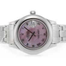 Rolex Masterpiece Swiss ETA 2836 Movement Roman Marking with Pink MOP Dial 2