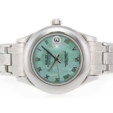 Rolex Masterpiece Swiss ETA 2836 Movement Roman Marking with Green MOP Dial 2