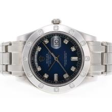 Rolex Masterpiece Swiss ETA 2836 Movement Diamond Marking with Blue Dial 1