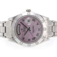 Rolex Masterpiece Swiss ETA 2836 Movement Roman Marking with Pink MOP Dial 1