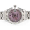 Rolex Masterpiece Swiss ETA 2836 Movement Diamond Marking with Pink MOP Dial