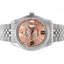 Rolex Datejust II Automatic Movement with Pink Floral Motif Dial