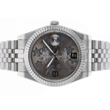 Rolex Datejust II Automatic with Gray Floral Motif Dial S/S
