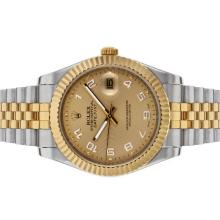Rolex Datejust II Automatic Two Tone Number Markers with Golden Dial 1