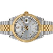 Rolex Datejust II Automatic Two Tone Stick Markers with Silver Dial 1