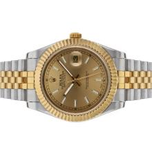 Rolex Datejust II Automatic Two Tone Stick Markers with Golden Dial-1