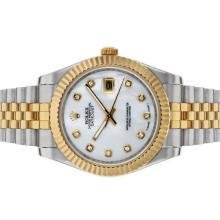 Rolex Datejust II Automatic Two Tone Diamond Markers with MOP Dial