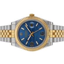Rolex Datejust II Automatic Two Tone with Blue Watermark Dial