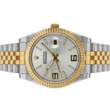 Rolex Datejust II Automatic Two Tone with Silver Watermark Dial
