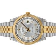 Rolex Datejust II Automatic Two Tone Number Markers with Silver Dial