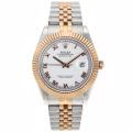 Rolex Datejust II Swiss ETA 2836 Movement Two Tone Roman Markers with White Dial 1