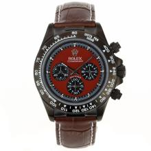 Rolex Daytona Working Chronograph PVD Case with Red Dial