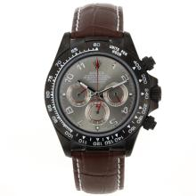 Rolex Daytona Working Chronograph PVD Case Number Markers with Gray Dial