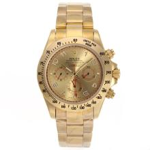 Rolex Daytona Automatic Full Gold with Golden Dial Number Marking