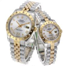 Rolex Datejust Automatic Two Tone Roman Markers with Silver Dial Sapphire Glass