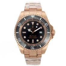Rolex Sea Dweller Automatic Full Rose Gold with Black Dial New Version