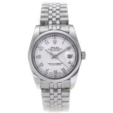 Rolex Datejust Automatic Number Markers with Silver Dail S/S-Sapphire Glass