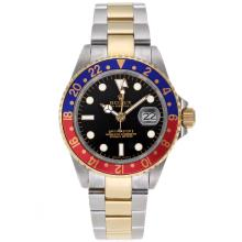 Rolex GMT-Master II Automatic Two Tone Red/Blue Bezel with Black Dial