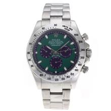 Rolex Daytona II Automatic with Green Dial S/S-Oversized Version